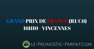 GRAND PRIX DE FRANCE (R1-C6) à 16H10 à VINCENNES (1)