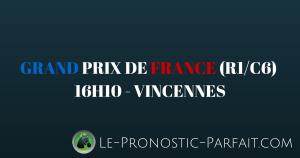 GRAND PRIX DE FRANCE (R1-C6) à 16H10 à VINCENNES (1)