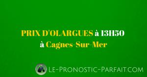 PRIX D\'OLARGUES (R1/C1) à 13H50 à Cagnes-Sur-Mer